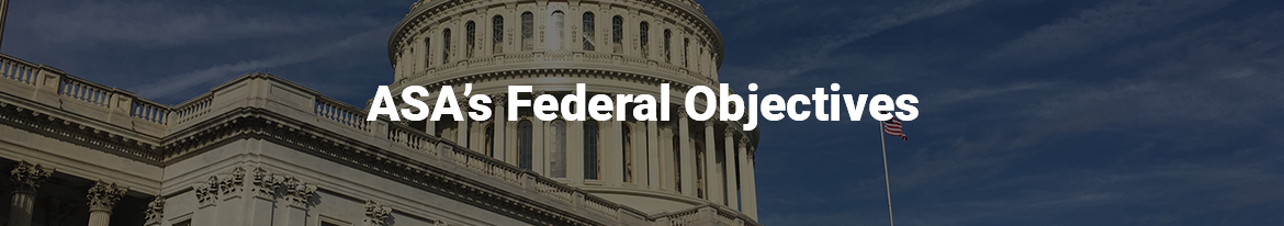 ASA Federal Objectives